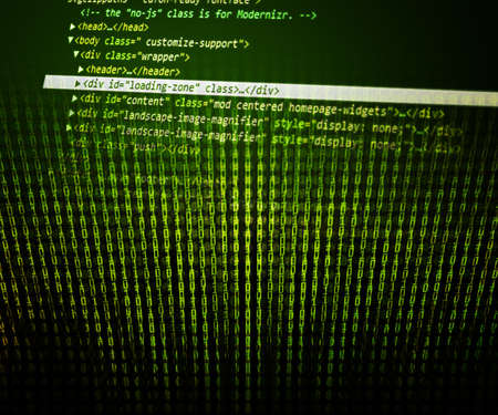 Program Code Green Background photo