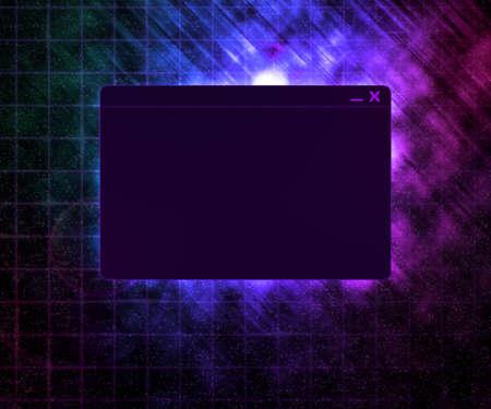 Dark Window Technology Concept Background photo