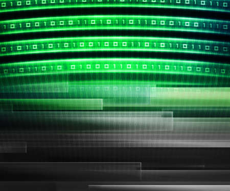 Green Information Technology Background Concept photo