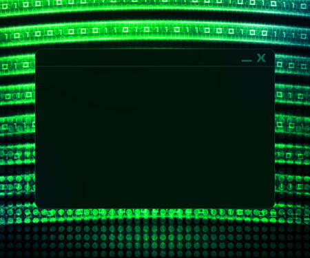 Green Window Technology Concept Background photo