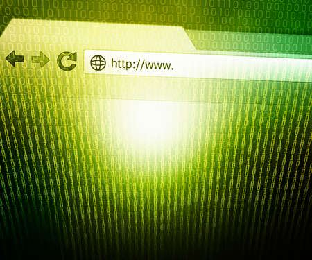 Browser Technology Concept Green Background photo