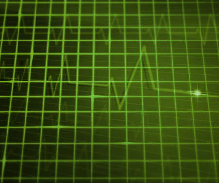 Green EKG Medical Background photo