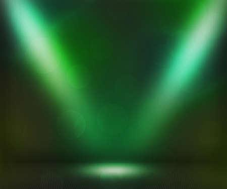green background: Green Dark Spotlights Room