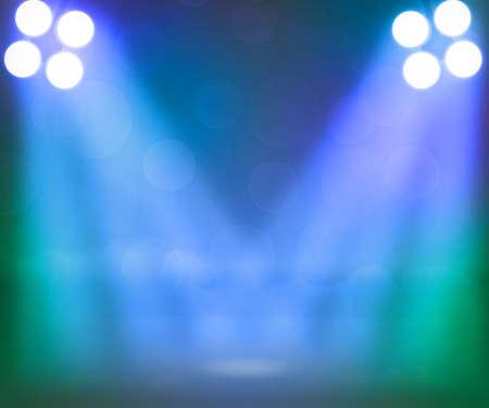 Blue Spotlight Stage Achtergrond Stockfoto