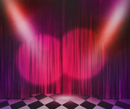 Violet Stage Spotlight Achtergrond Stockfoto
