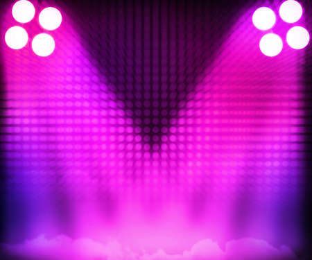 Pink Show Room Spotlights Stage Background photo