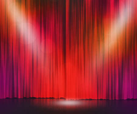 Red Stage Spotlight Background Stock Photo - 14587090