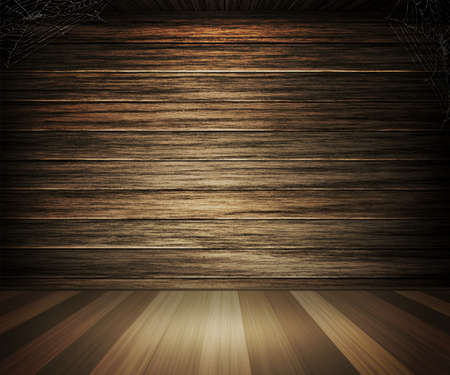 Old Dark Wooden Interior Background photo