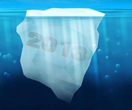 2013 Year in Iceberg Reklamní fotografie