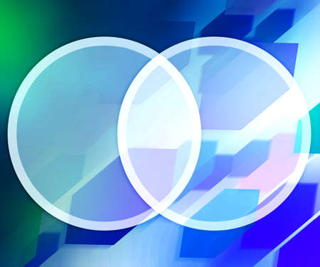 Blue Background Business Circles Stock Photo - 14843949