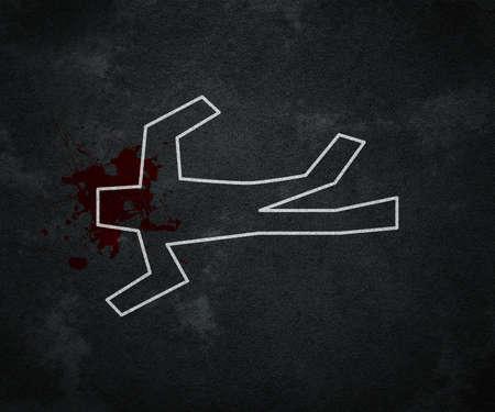 escena del crimen: Crime Scene Foto de archivo