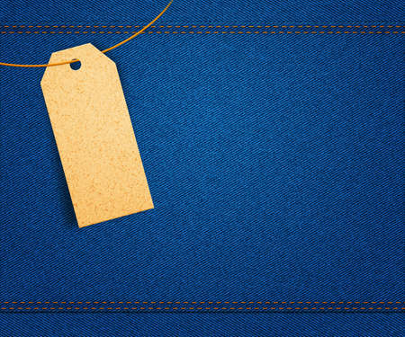 Clothes Label on Jeans photo