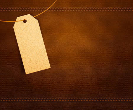 Clothes Label on Leather Stock Photo - 14844050