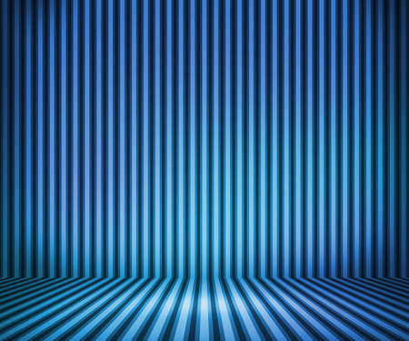 Blue Striped Background Show Room photo