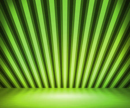 Green Striped Background Show Room Stock Photo - 14844012