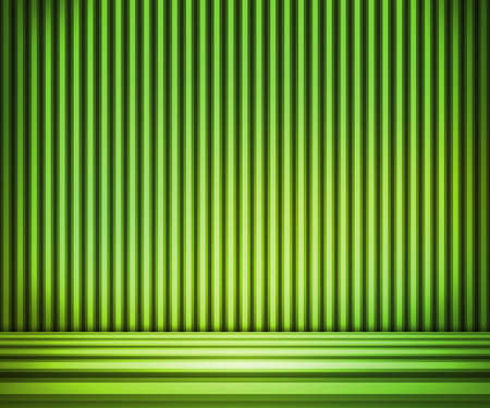 show room: Green Striped Background Show Room