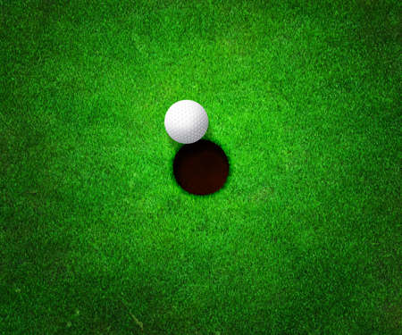 Ball near Hole Golf Background photo