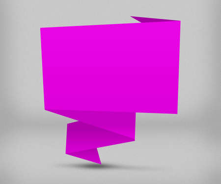 Pink Origami Background photo