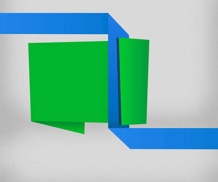 Green Origami Background photo