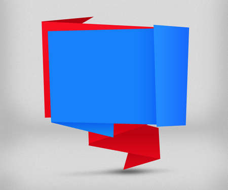 Blue and Red Origami Background photo
