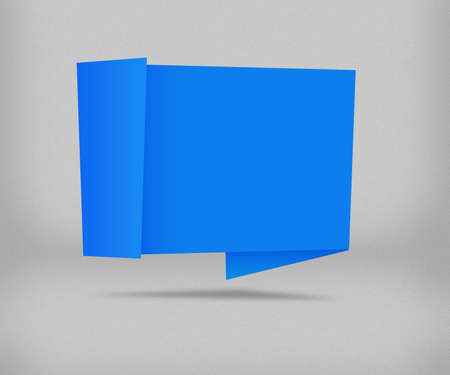 Blue Origami Background photo