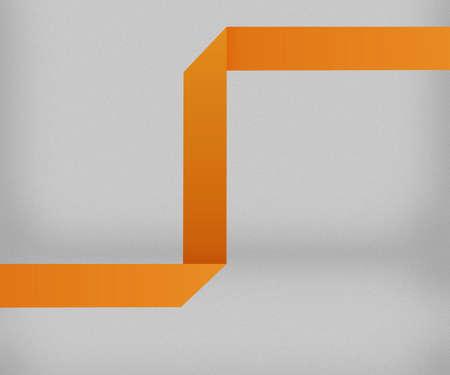 Orange Origami Background photo