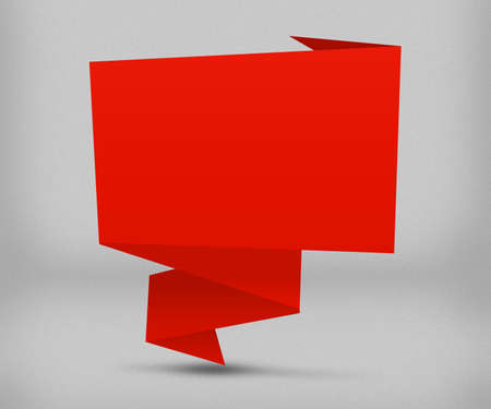 Red Origami Background photo