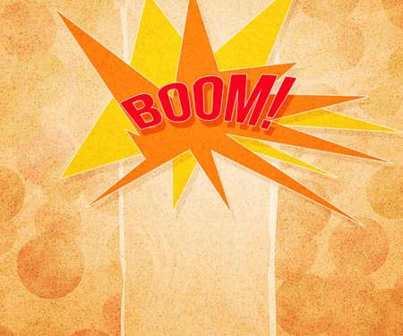 Boom Vintage Background Stock Photo - 15061540
