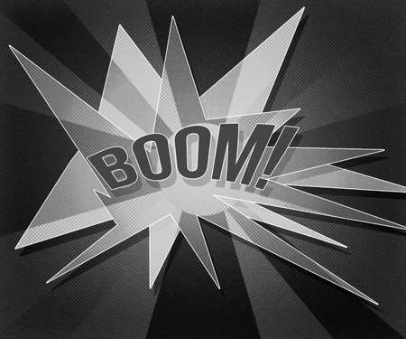 thrashed: Gray Boom Vintage Background Stock Photo