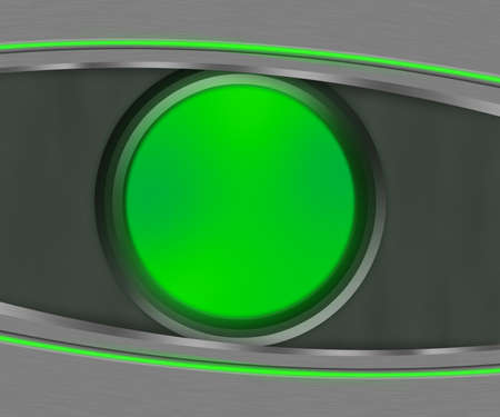 Dark Eye Shapes Green Background Stock Photo - 15061466