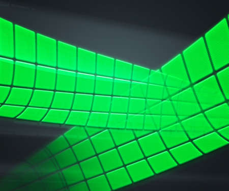 Green Technology Background Squares photo