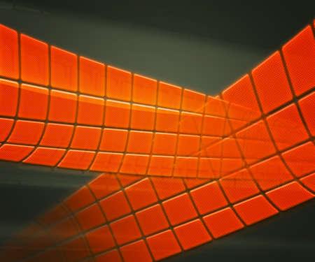Orange Technology Background Squares photo