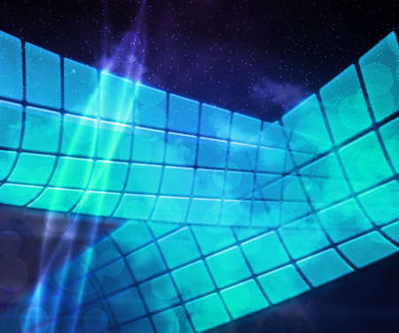 Blue Abstract Tech Background photo
