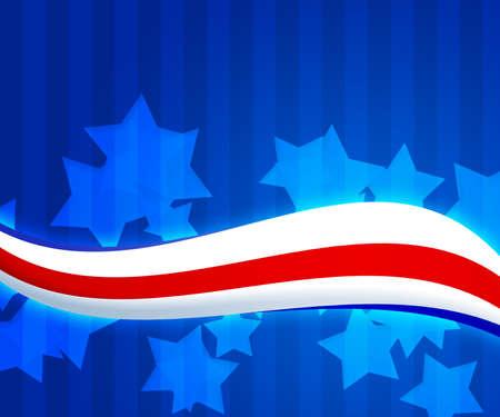 Bandera americana 4 de julio de fondo Foto de archivo - 15519236