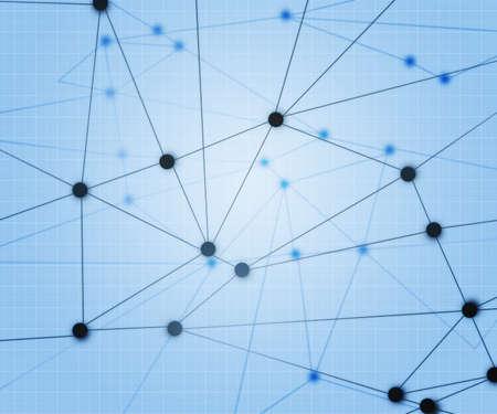 Blauw Netwerk Achtergrond Stockfoto