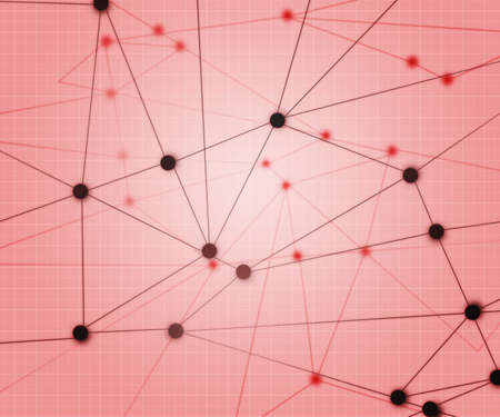 Red Network Background Stock Photo