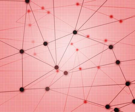 Red Network Background Reklamní fotografie