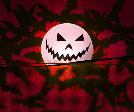 Red Halloween Background photo