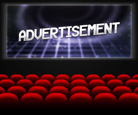 Advertisment in Cinema Background photo