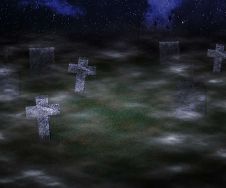 Scary Graveyard Background photo