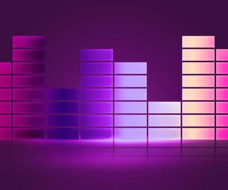 Equalizer Music Violet Background Stock Photo - 15998516