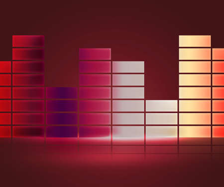 Red Equalizer Music Background photo