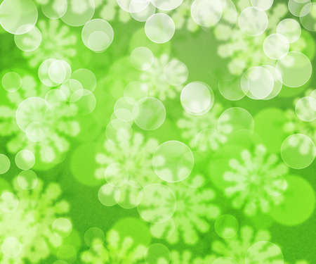 Green Winter Bokeh Background photo