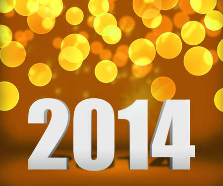 2014 Gold New Year Background Stage photo