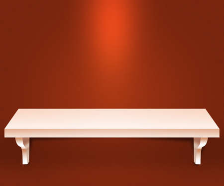 Empty Shelf Orange Background photo