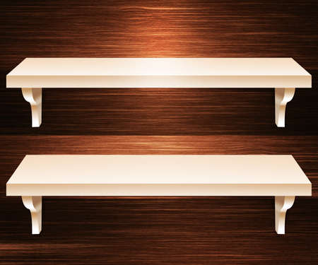 Two Shelves Wooden Background photo