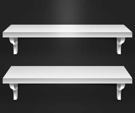 Two Shelves Black Background Stock Photo - 15998504