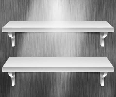 Two Shelves Metal Background photo