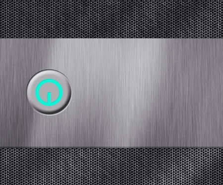 Metal Power Button Background photo