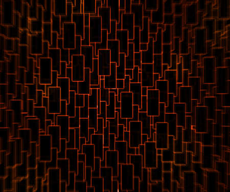 luminescence: Red Techno Background